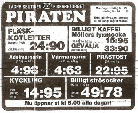 Annons Piraten 1980-07-21